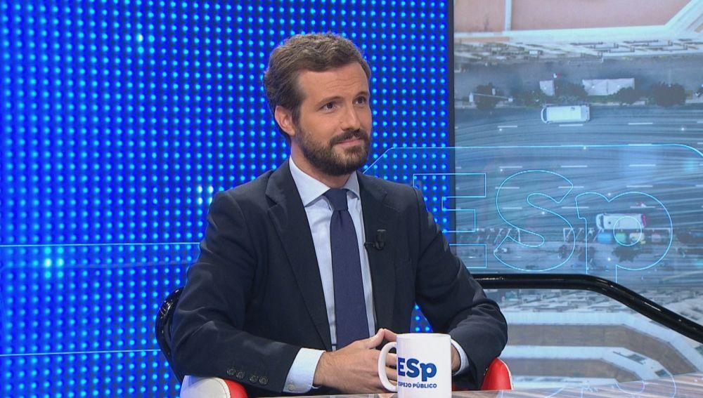 """Pablo Casado, sobre el apoyo a los presupuestos: """"Nosotros escuchamos, pero cuando tengan algo que decirnos"""""""