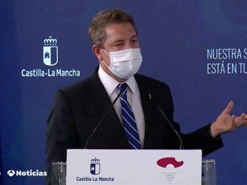 """García-Page: """"El 80% de los casos de coronavirus de Castilla-La Mancha vinieron de la bomba radioactiva vírica de Madrid"""""""
