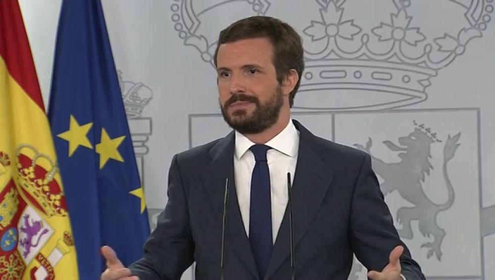 """Pablo Casado, tras no llegarse a un acuerdo para los presupuestos: """"No se ha hecho los deberes"""""""