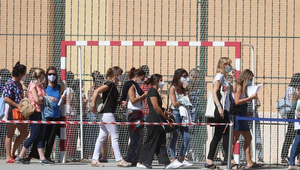 Los profesores de Madrid vuelven a acudir a hacerse las pruebas PCR