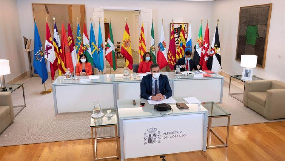 Pedro Sánchez ante la reunión con los jefes de las comunidades autónomas