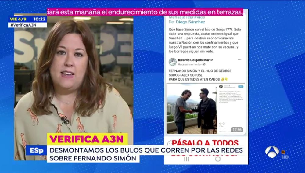 Un falso Fernando Simón aparece con Alexander Soros en una imagen viral