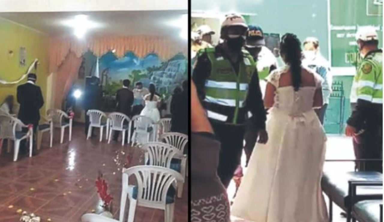 Detienen a los novios, el cura y los doce invitados de una boda en Perú por incumplir las normas frente al coronavirus