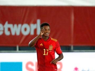 Ansu Fati, el goleador más joven de la historia de España