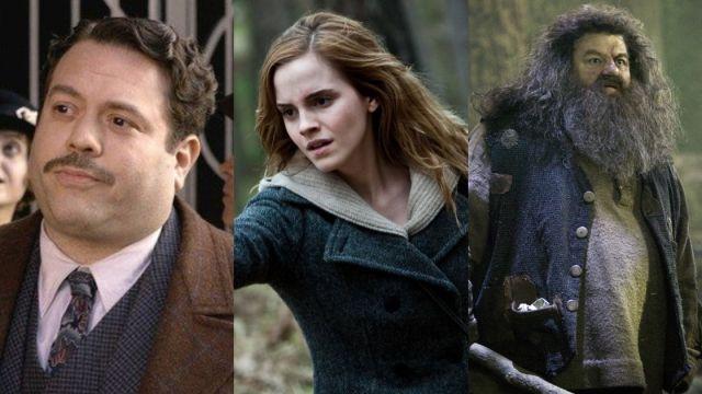 Jacob junto a Hermione y Hagrid