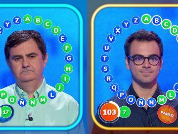 Vibrante duelo en 'El Rosco' entre Pablo y el debutante Luis con un final marcado por la estrategia