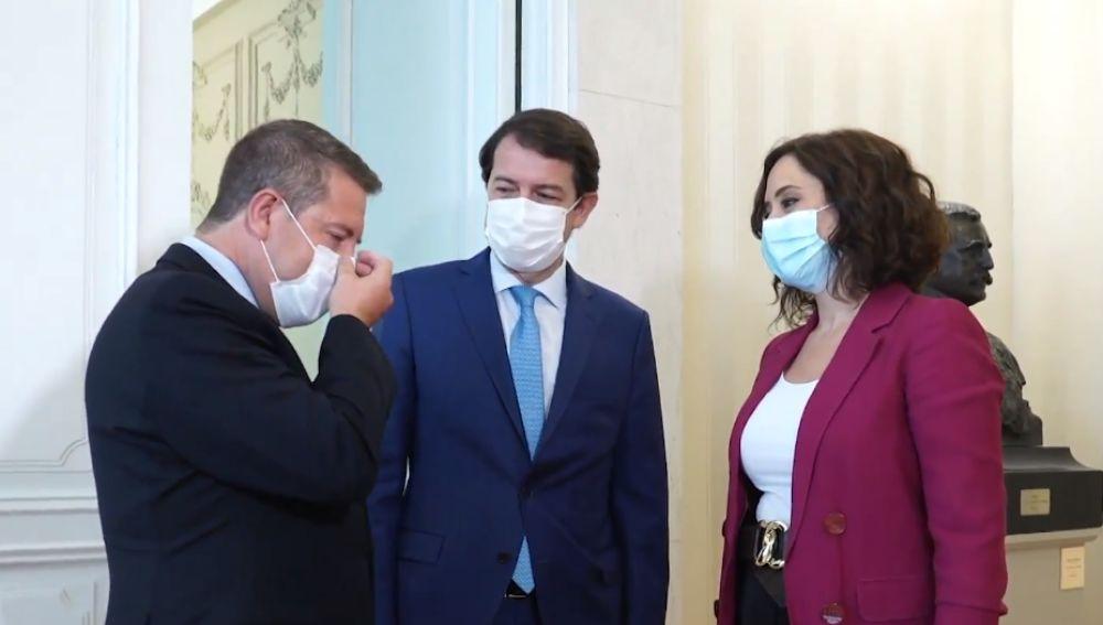 Isabel Díaz Ayuso, Emiliano García-Page y Alfonso Fernández Mañueco