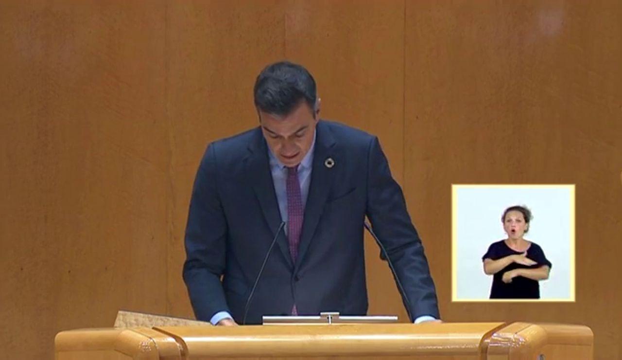 """Pedro Sánchez pide """"la unidad de las fuerzas políticas y de las instituciones"""" para hacer frente a la crisis del coronavirus"""