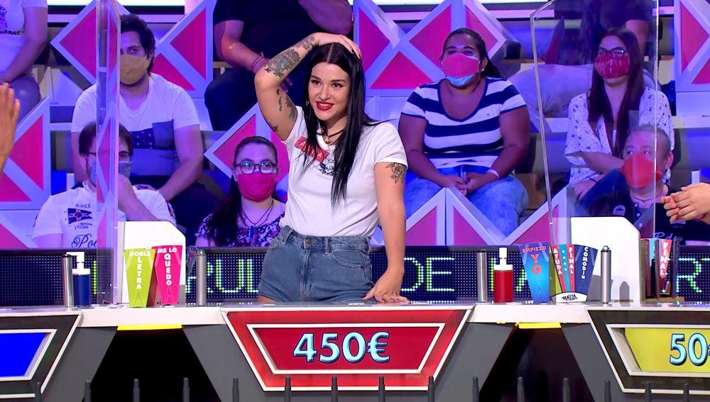 Alba se desespera ante su mala suerte en 'La ruleta de la suerte'