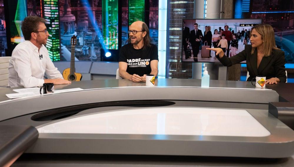 Pablo Motos, Santiago Segura y Toni Acosta
