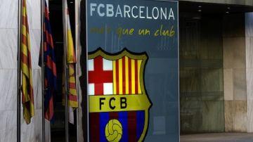 Entrada a las oficinas del FC Barcelona