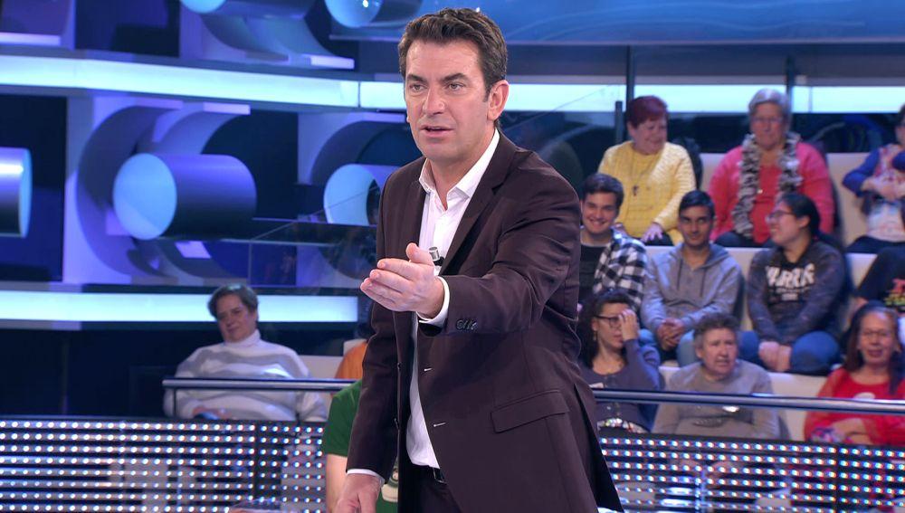 ¿Antonio Banderas en '¡Ahora caigo!'? Arturo Valls, sorprendido con un concursante