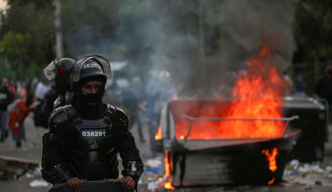 Protestas en Colombia por la muerte de un abogado a manos de la Policía