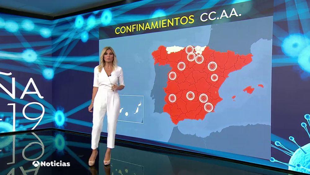 Solo Asturias, País Vasco y Canarias están libres de restricciones y confinamientos por el coronavirus