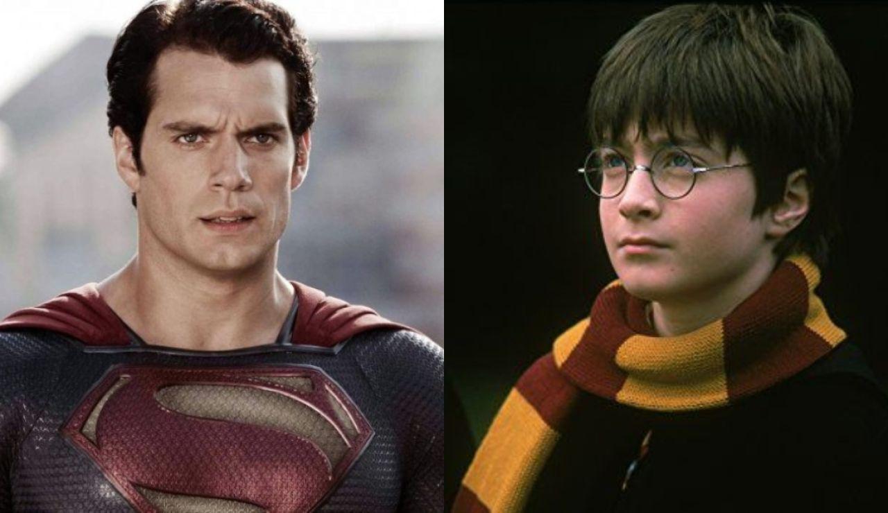 Henry Cavill como Superman y Daniel Radcliffe como Harry Potter