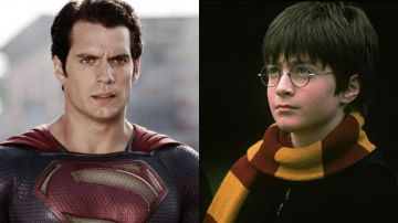 Henry Cavill como Superman y Daniel Radcliffe como Harry Potter