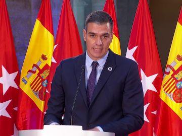 Pedro Sánchez tras la reunión con Isabel Díaz Ayuso sobre el coronavirus