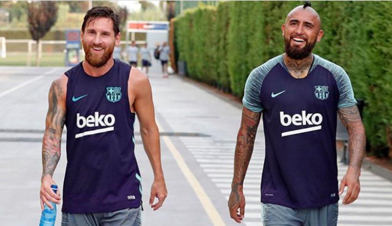 """Leo Messi y Luis Suárez despiden a Arturo Vidal tras su fichaje por el Inter de Milán: """"Nos volveremos a cruzar"""""""