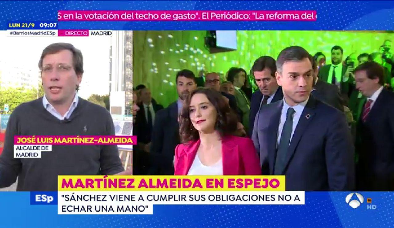 El alcalde de Madrid, José Luis Martínez Almeida, valora en Espejo Público las nuevas medidas para frenar el coronavirus