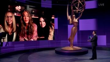 Lisa Kudrow, Jennifer Aniston y Courteney Cox en los Emmy 2020