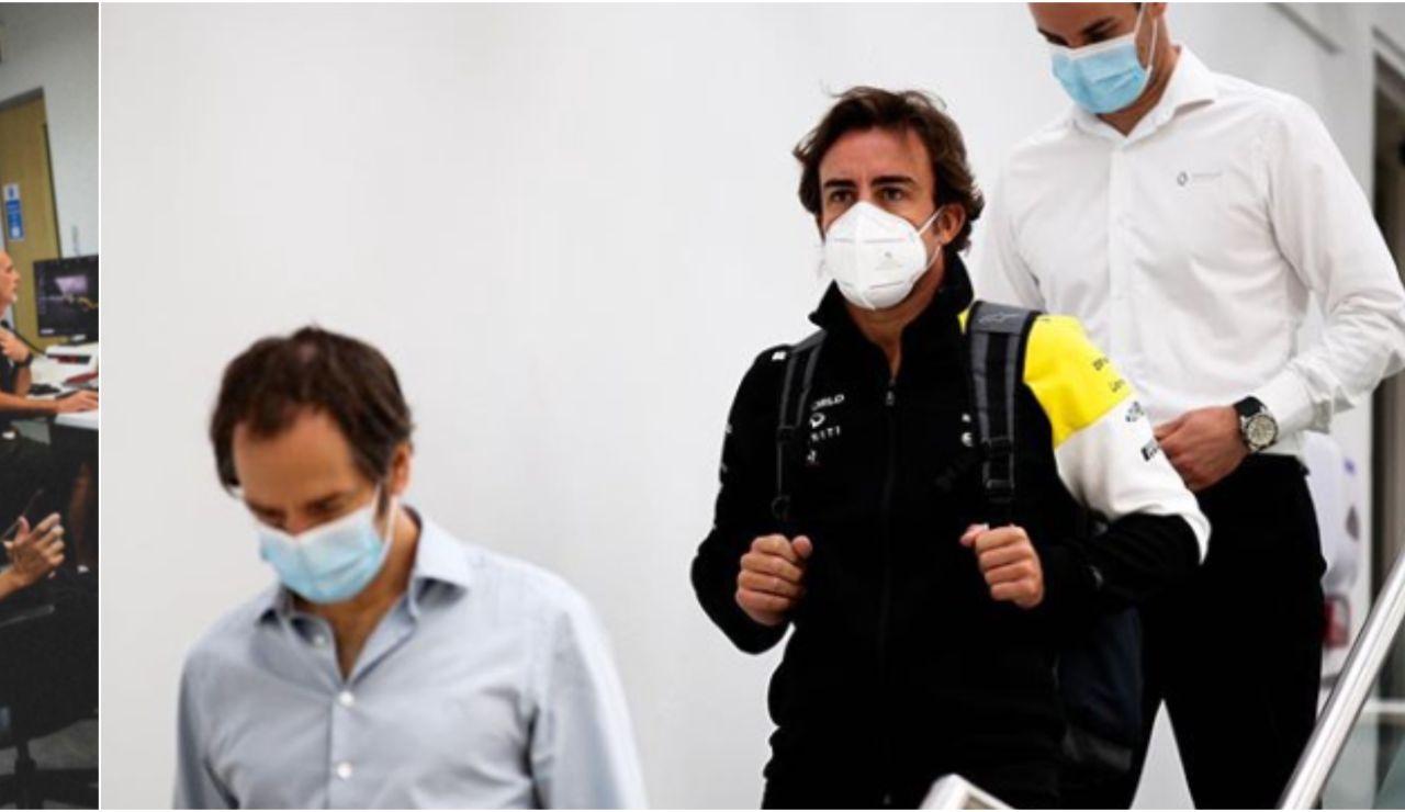 Fernando Alonso, en su regreso a Enstone