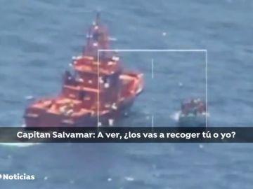La conversación que muestra la tensión y descoordinación durante el rescate de un cayuco en aguas de Canarias