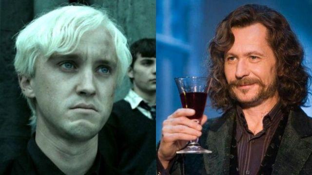 Gary Oldman y Tom Felton como Sirius Black y Draco Malfoy en 'Harry Potter'