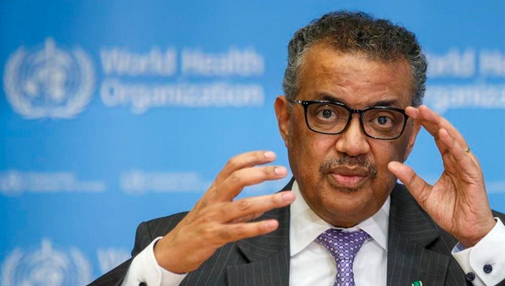 El director general de la OMS, Tedros Adhanom Gebreyesus, en rueda de prensa