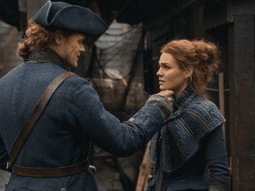 Jamie y Brianna en 'Outlander'