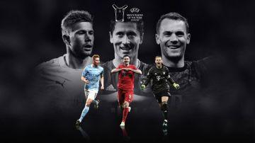 Los tres finalistas el mejor jugador de la UEFA en la temporada 2019-20