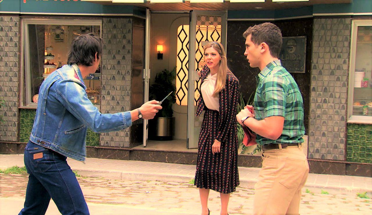 Maica se enfrentó al delincuente que amenazó a Manolín