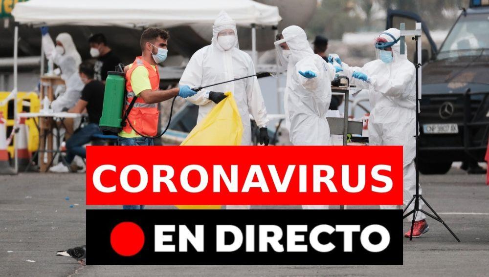 Coronavirus España: Última hora, datos, rebrotes, confinamientos y noticias hoy, en directo