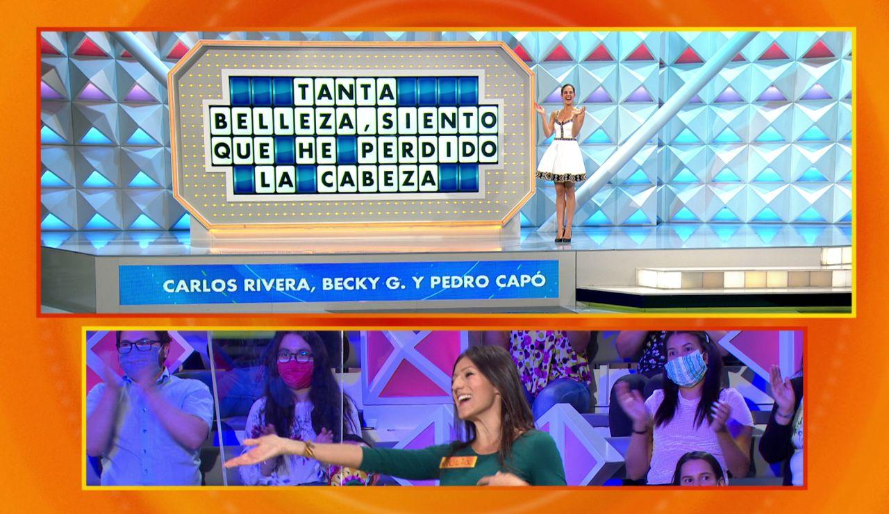 """""""¡Sube a cantarla si quieres!"""": Jorge Fernández incita a una concursante a cantar """"Perdiendo la cabeza"""""""