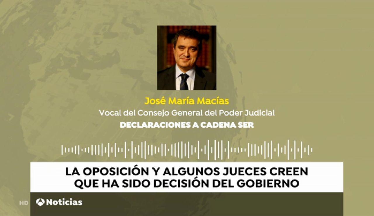 """Un vocal del CGPJ dice que fue el Gobierno quien """"no autorizó"""" la presencia del Rey en la entrega de despachos de nuevos jueces"""