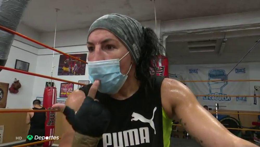 """Miriam 'La Reina' Gutiérrez explica el riesgo de boxear con mascarilla: """"No te llega el oxígeno a la cabeza"""""""