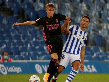Martin Odegaard, durante el partido entre Real Madrid y Real Sociedad