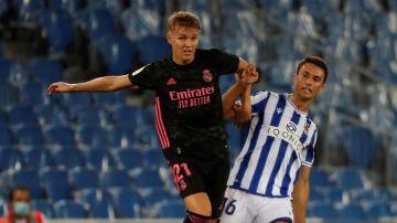Martin Odegaard da positivo por coronavirus tras el partido entre Real Madrid y Real Sociedad