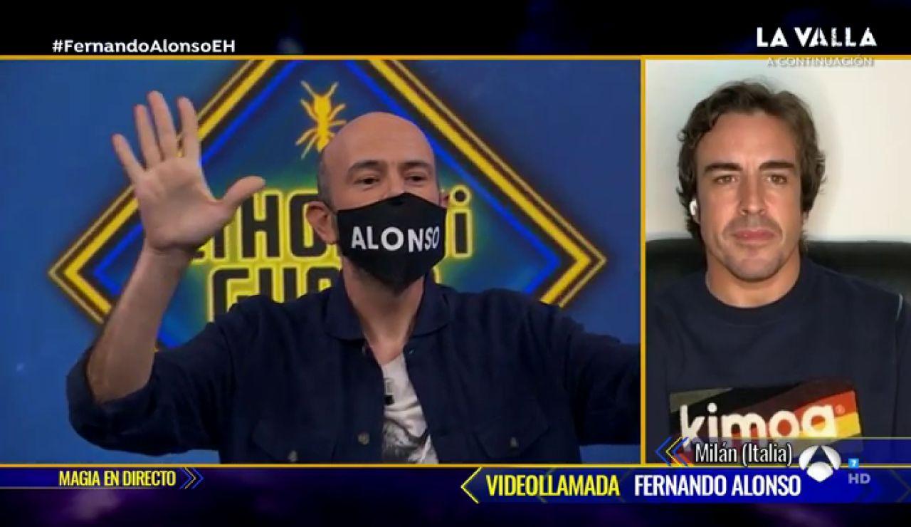 Jandro sorprende a Fernando Alonso