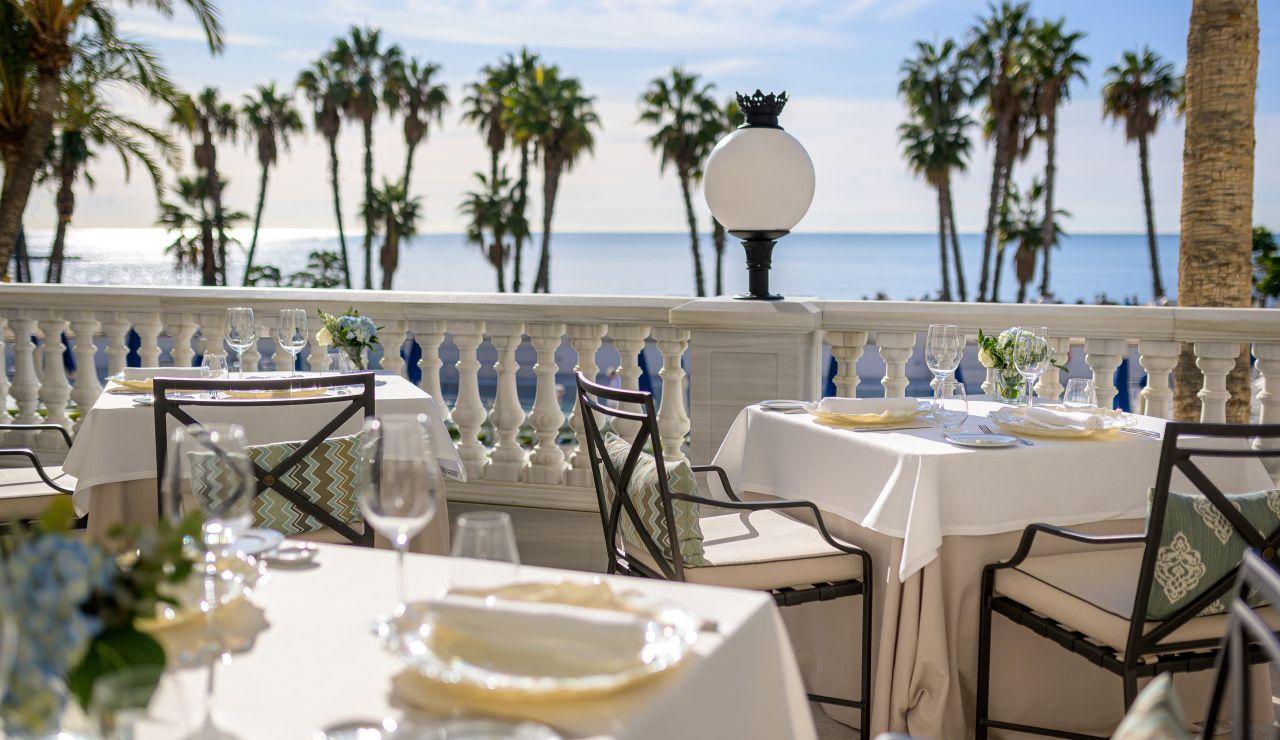 Terraza del Restaurante Príncipe de Asturias del Gran Hotel Miramar