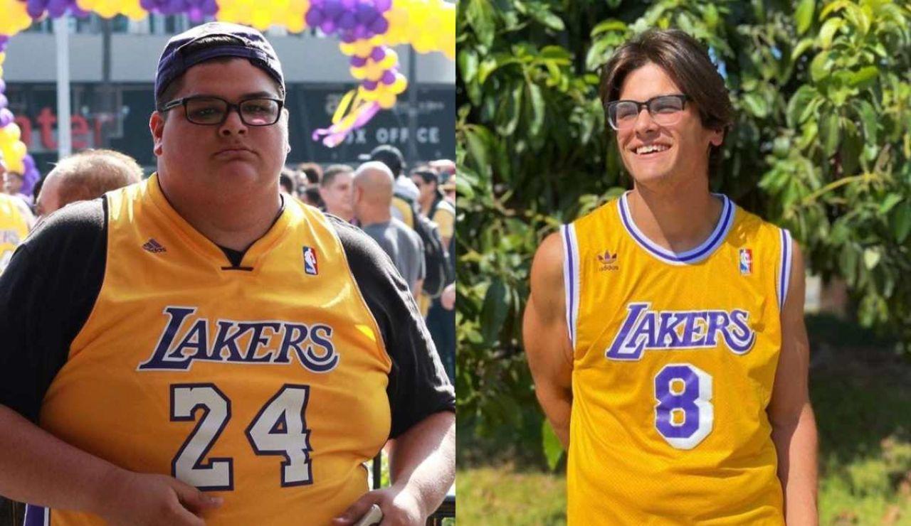 Adelgaza 80 kilos en solo un año con la 'mentalidad Mamba' de Kobe Bryant