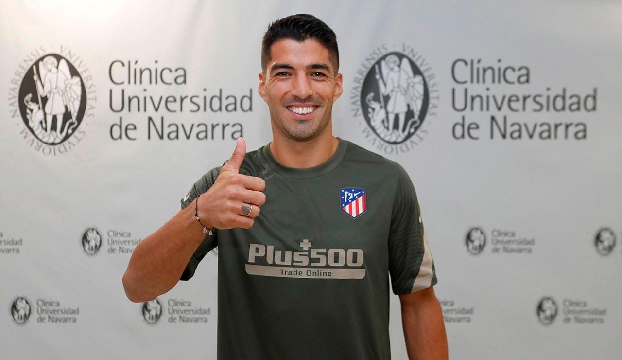 Luis Suárez pasa reconocimiento médico con el Atlético
