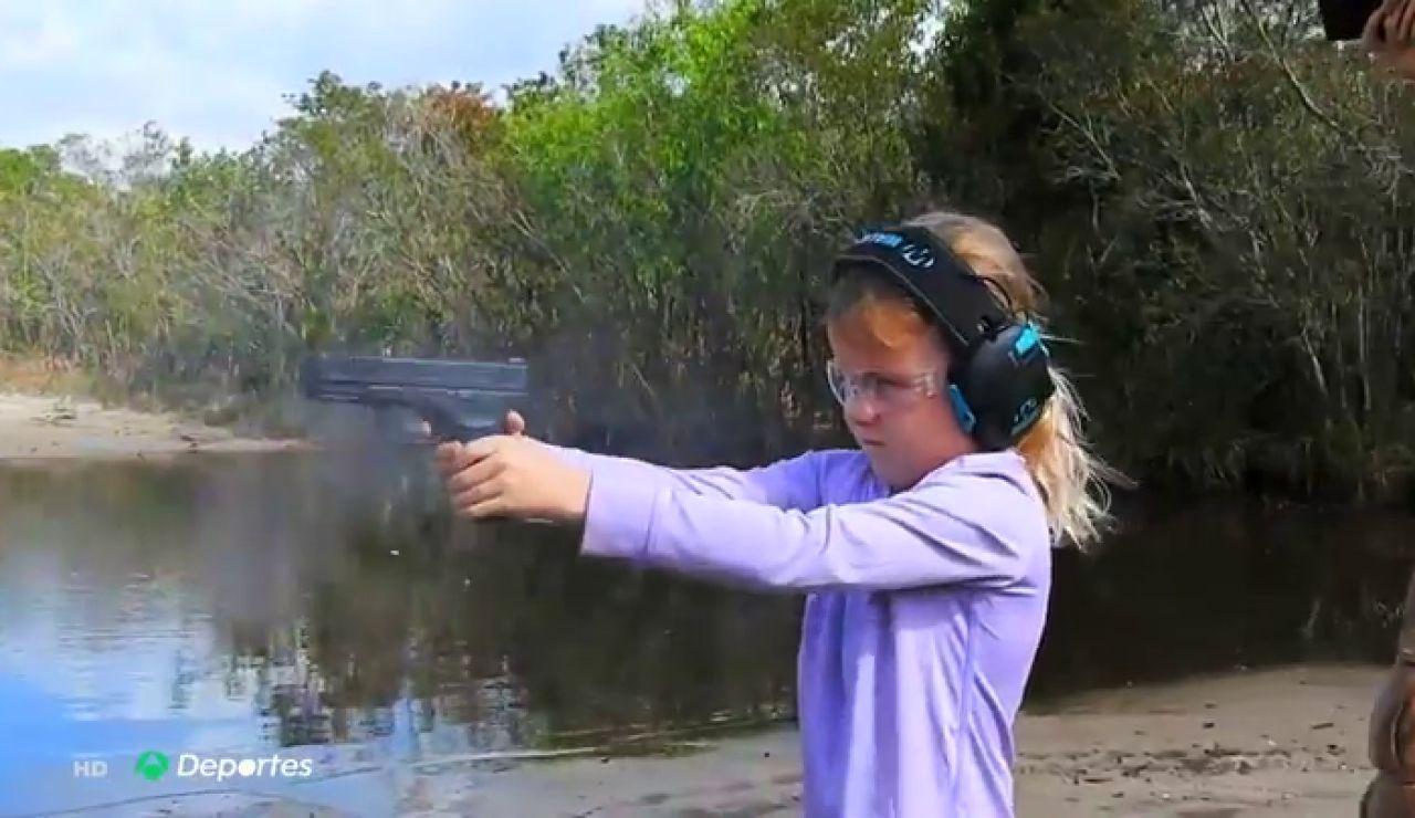 Autumn, la niña de siete años que maneja todo tipo de armas en Estados Unidos