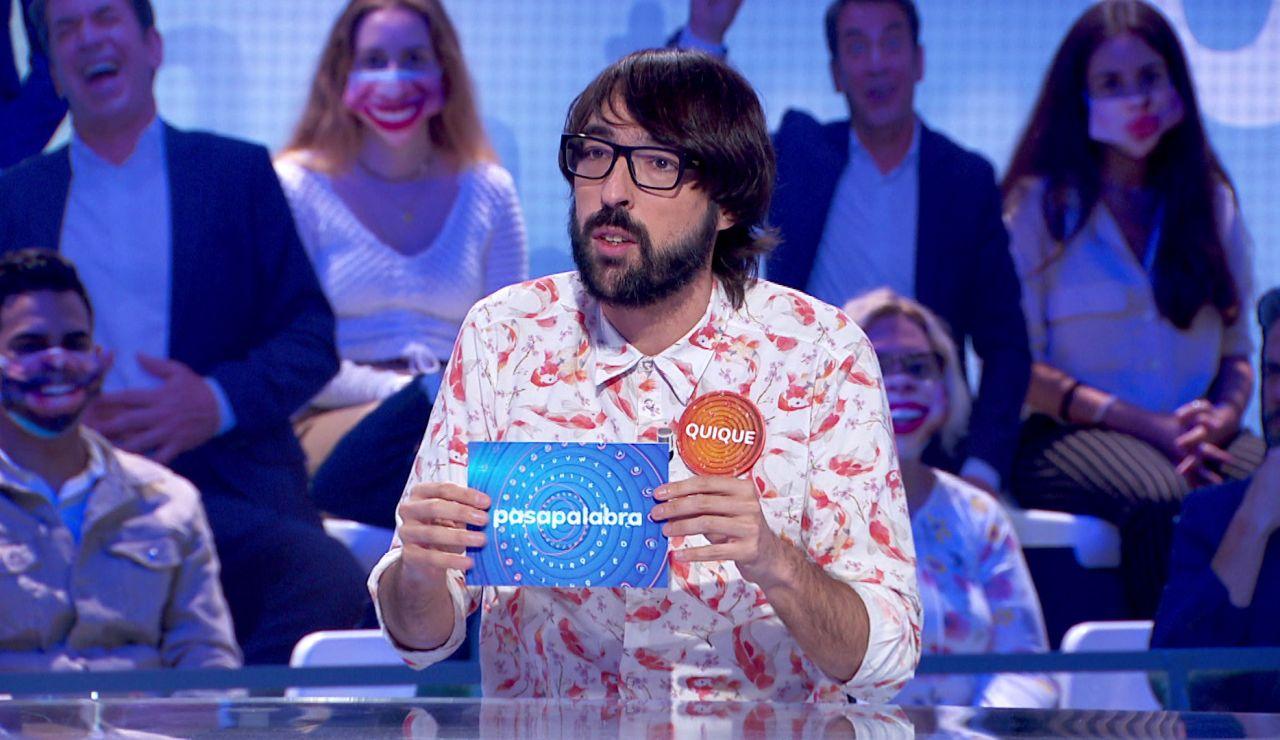 """La peculiar colección de Quique Peinado se amplía en 'Pasapalabra': """"Sigo siendo fan de la tele"""""""