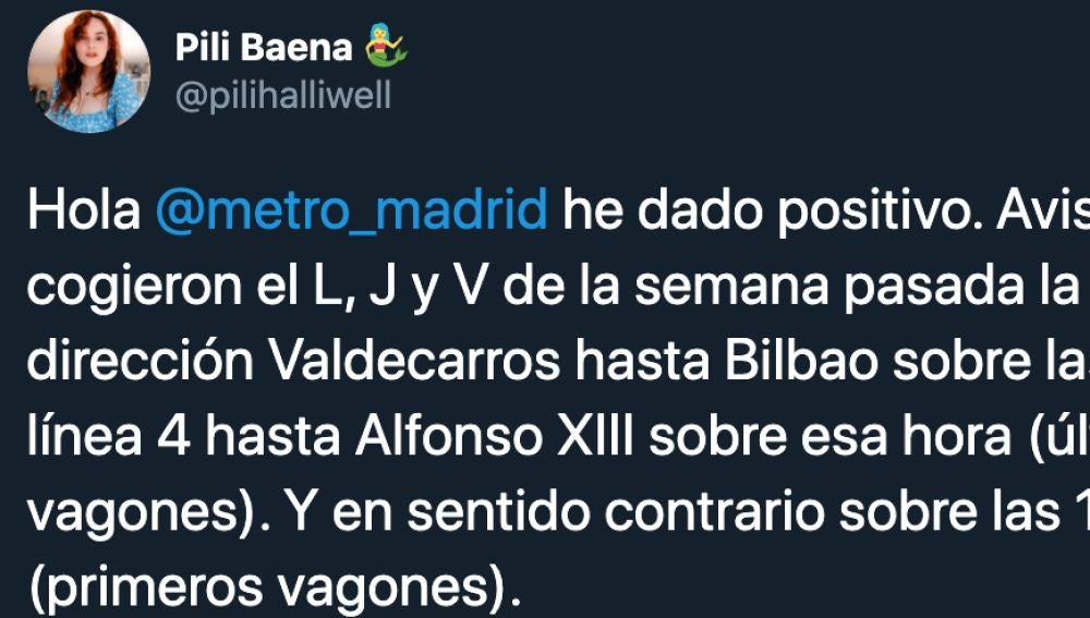 Usuaria del Metro de Madrid positivo en coronavirus