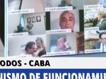 Dimite un diputado argentino por escena sexual en una sesión por videoconferencia
