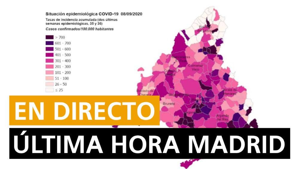 Coronavirus Madrid: Confinamiento Madrid, restricciones, última hora y noticias hoy, en directo