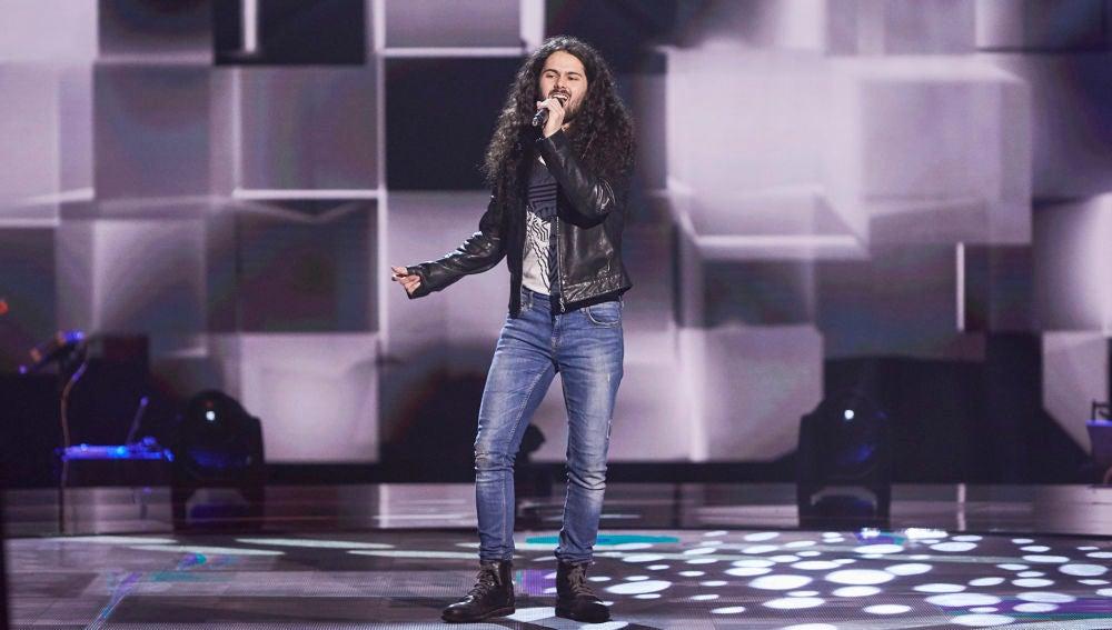Samuel García, pura esencia del rock con 'Sweet child O' mine' en las Audiciones a ciegas de 'La Voz'