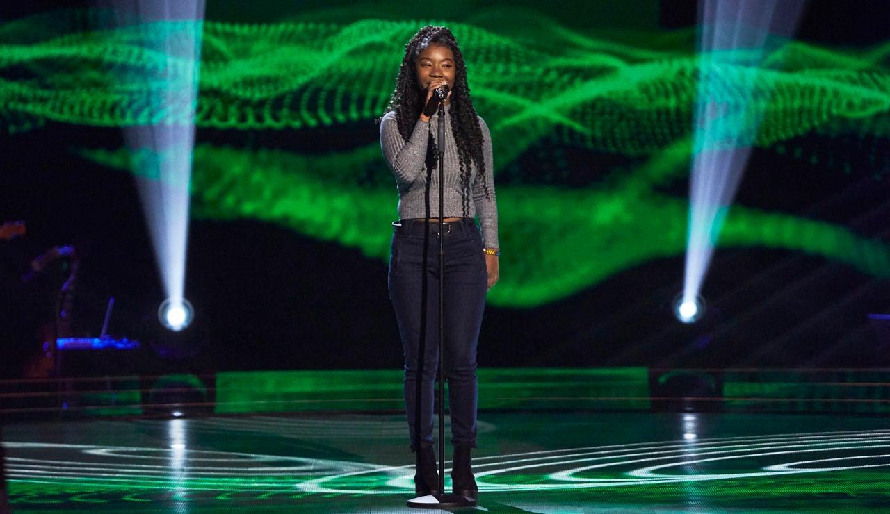 Dayana Emma interpreta una versión con mucho flow  de 'Is this love' de Bob Marley en las Audiciones a ciegas de 'La Voz'