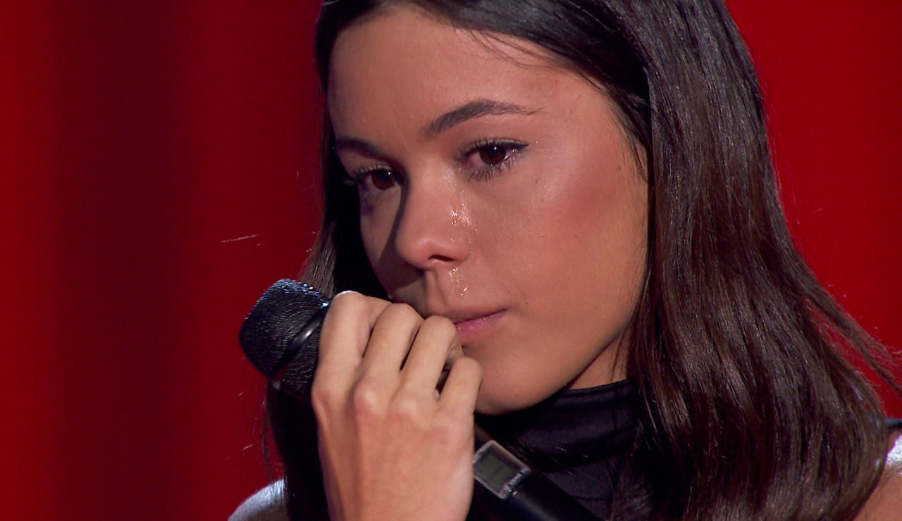 Pilar Bogado, emocionada en 'La Voz'
