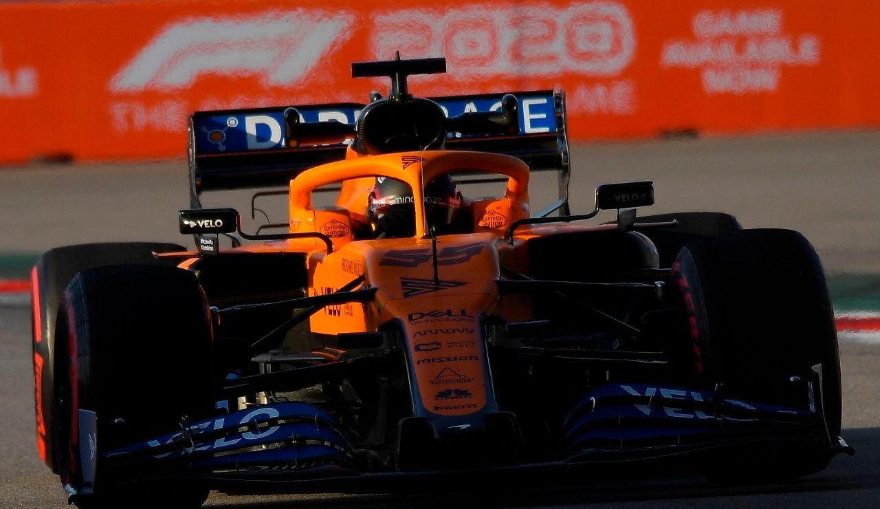 Carlos Sainz, en la clasificación del GP de Rusia